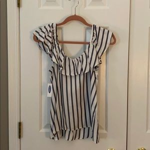 Striped, Ruffled Top from Old Navy